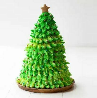 Christmas Tree Design Cake