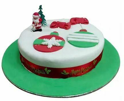 Santa Greetings Plum Cake