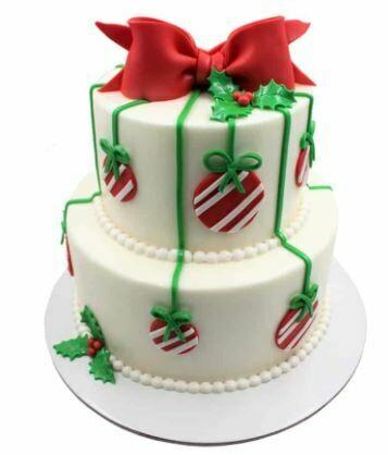 Xmas Double Tier Cake