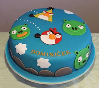 Angry Birds Aerial Assault Cake