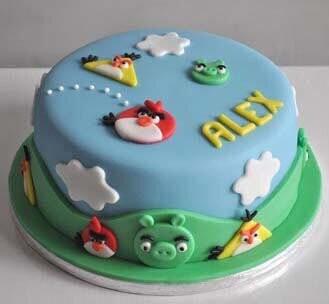 Angry Birds Aerial Assault Cake 2