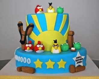 Perfect Score Angry Birds Cake