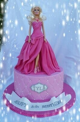 Glamour on the Runway Barbie Cake