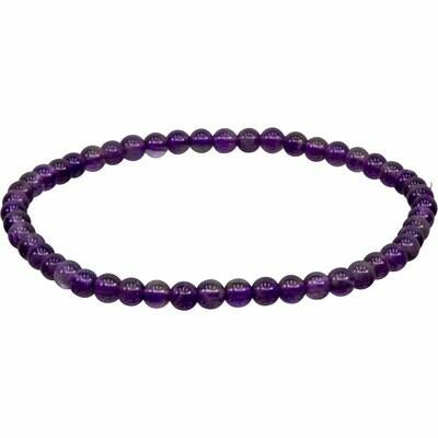 Elastic Bracelet 4mm Round Elastic Bracelet 4mm Round - Amethyst