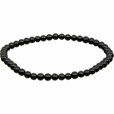 Elastic Bracelet 4mm Round Elastic Bracelet 4mm Round -Black Obsidian