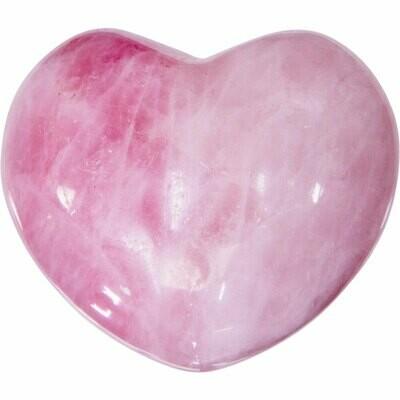 Puffed Gemstone Heart -Rose Quartz