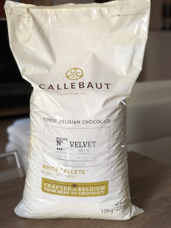 Білий шоколад Velvet 32% Callebaut, 10 кг.