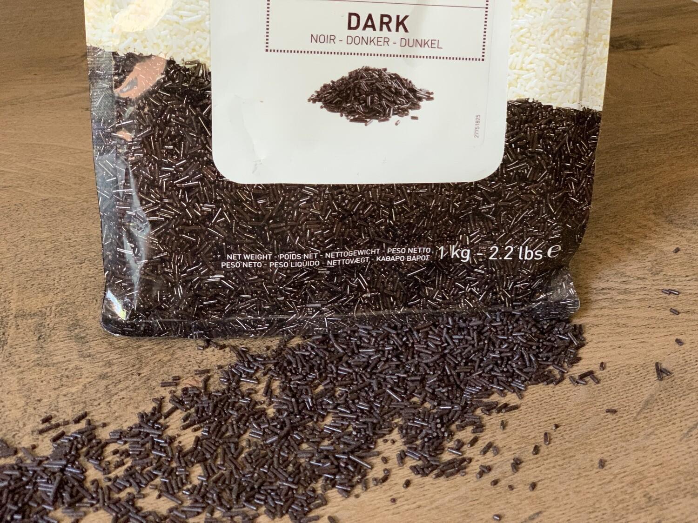 Шоколадна вермишель чорна Callebaut, 50 г.
