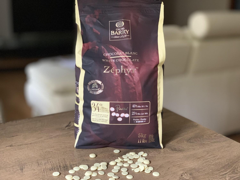 Білий шоколад ZÉPHYR 34%, 1 кг.