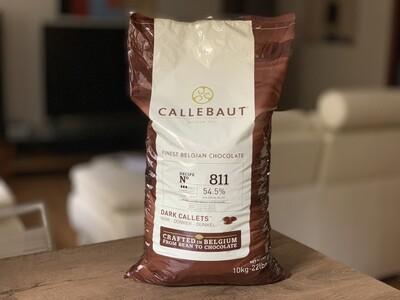 Чорний шоколад № 811 Callebaut, 10 кг.