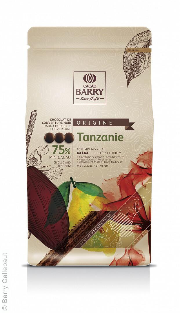Екстра Чорний Шоколад TANZANIE 75%, 1 кг.
