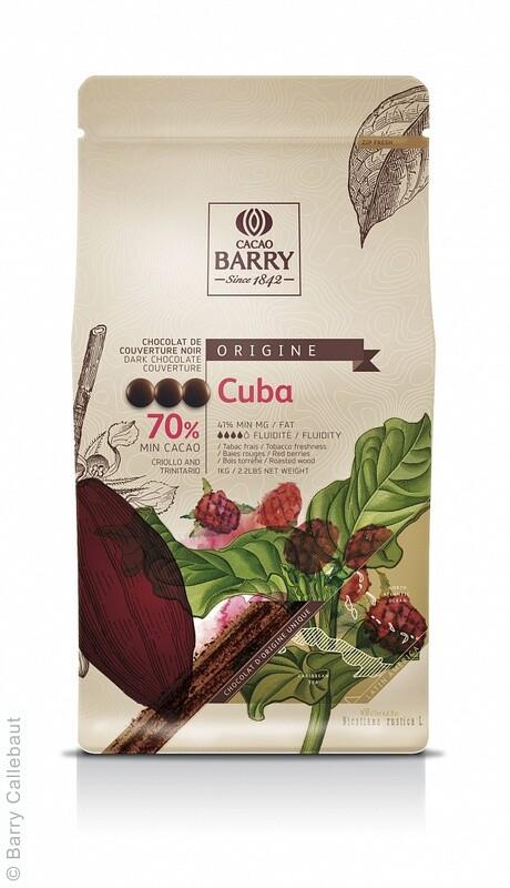 Екстра Чорний Шоколад CUBA 70%, 1 кг.