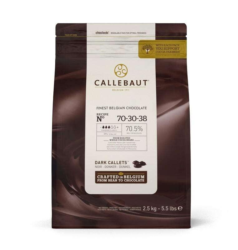 Екстра Чорний Шоколад  № 70-30-38, 2.5 кг.