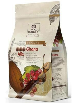 Молочний Шоколад   GHANA 40%, 1 кг.