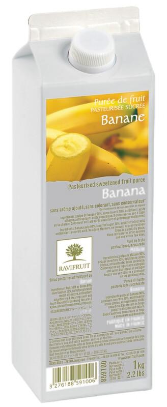 Пюре бананRAVIFRUIT, 1 кг.