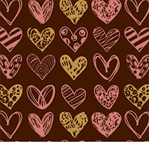 """Painted Hearts"" трансфер, 5 шт."