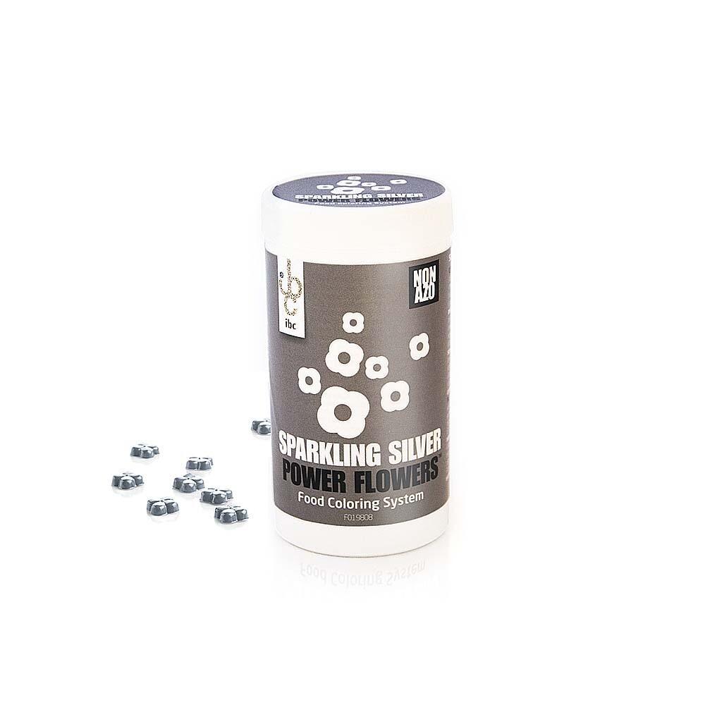 Барвник блискучий срібний 50 г/ Power Flower Sparkle Silver