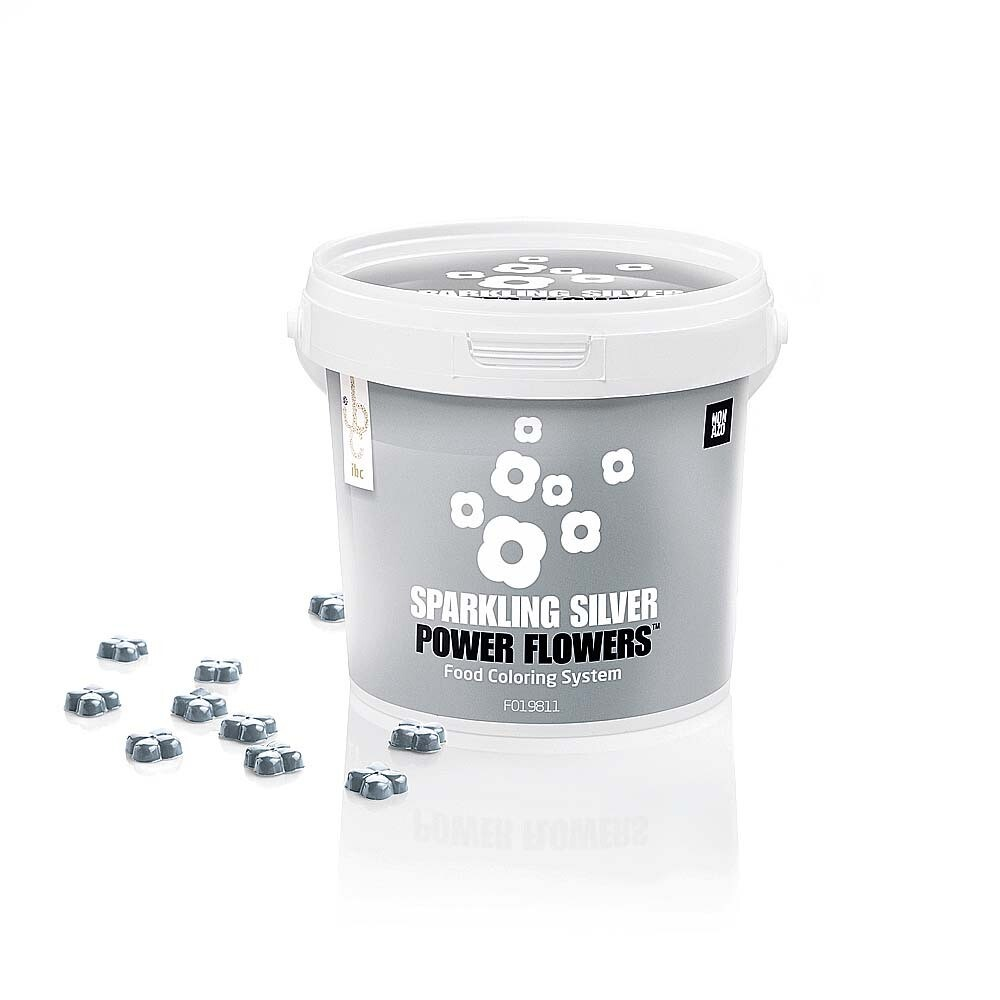 Барвник блискучий срібний 500 г/ Power Flower Sparkle Silver