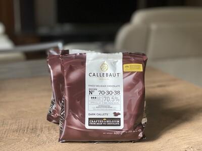 Екстра-чорний шоколад  70,5% Callebaut, 400 г.