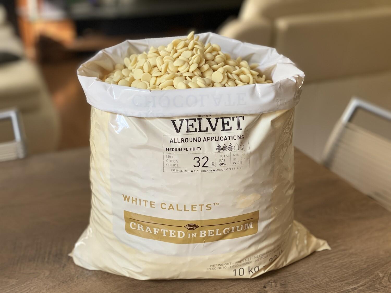Білий шоколад Velvet 32% Callebaut, 1 кг.