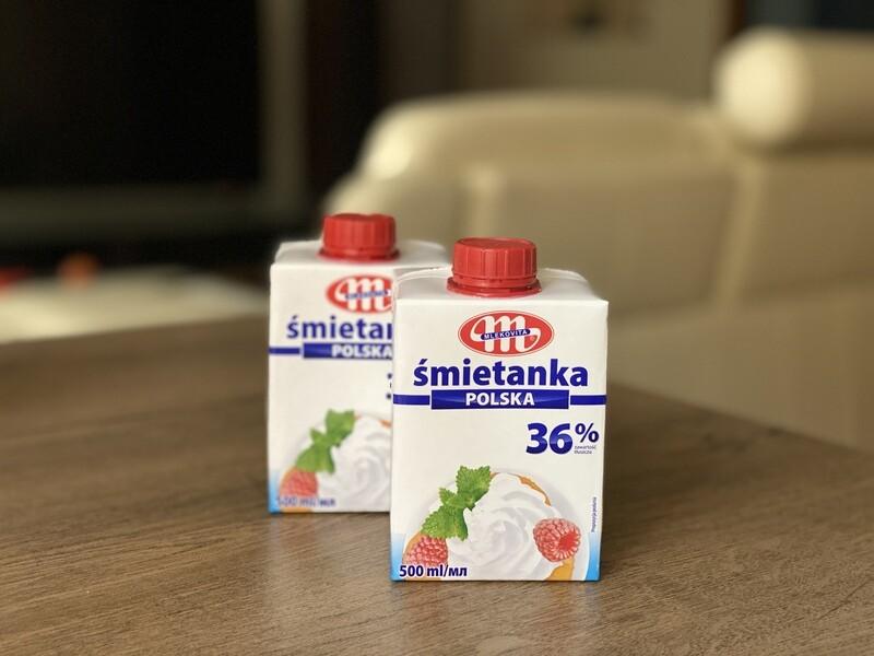 Вершки Smietanka 36% (Польща), 0,5 л.