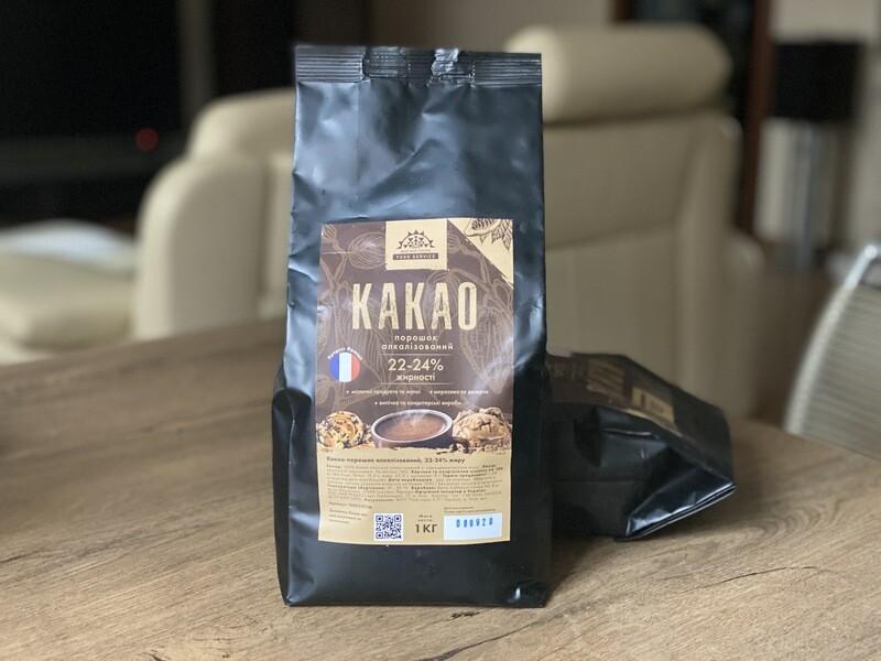Какао-порошок алкалізований 22-24% (Франція), 1 кг.