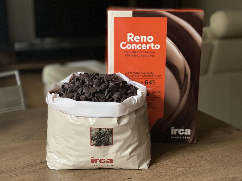 Чорний шоколад 64% Irca, 1 кг.