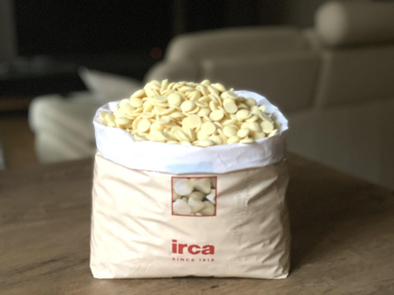 Білий шоколад Irca  31,5 %, 1 кг.