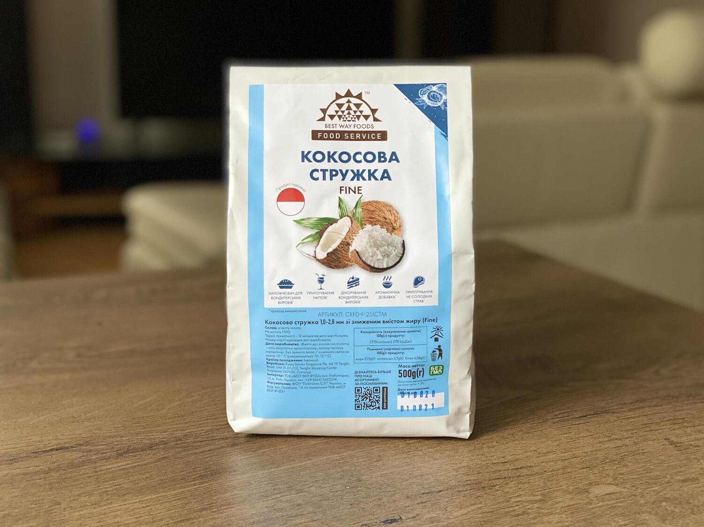 Кокосова стружка FINE, (Індонезія), 0.5 кг.