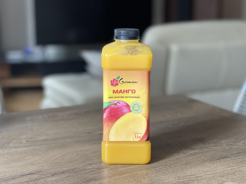 Пюре YaGurman манго пастерезоване, 1 кг.