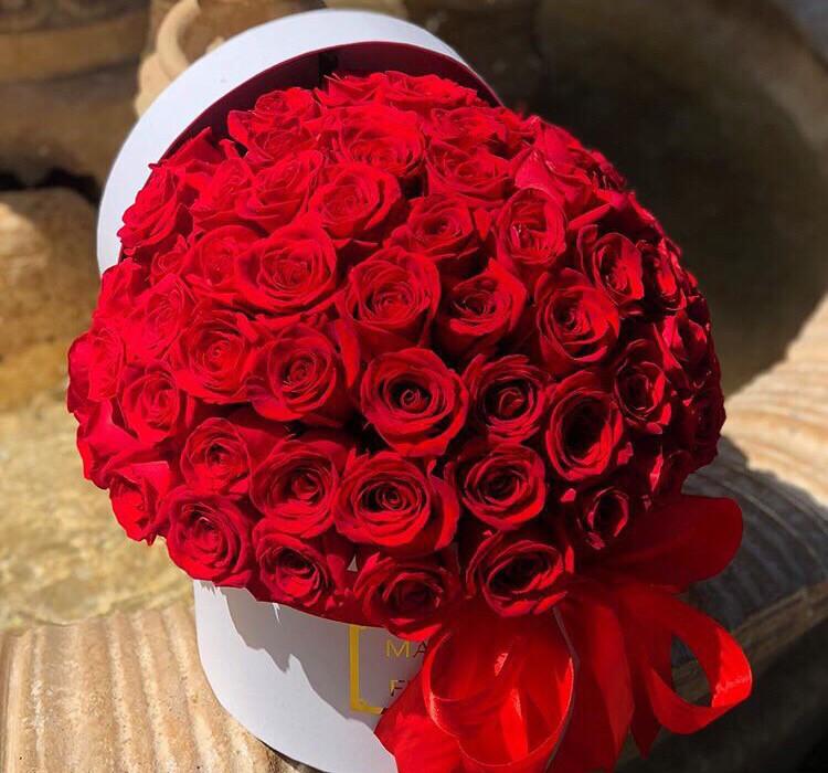 Коробка роз Ночь любви