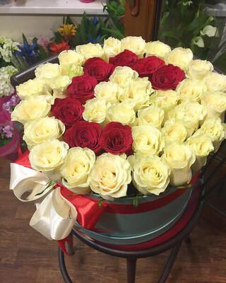 Коробка роз Самая Красивая