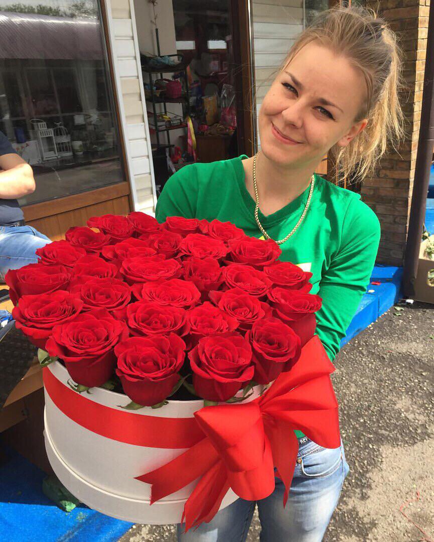 Коробка роз Премиум классика