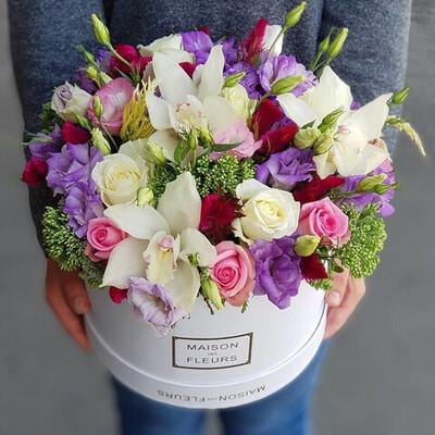 Коробка Эксклюзивных цветов Мирабель