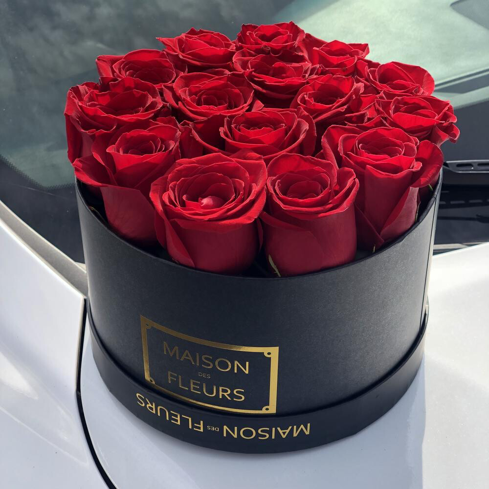 Коробка Маисон с Розой Премиум