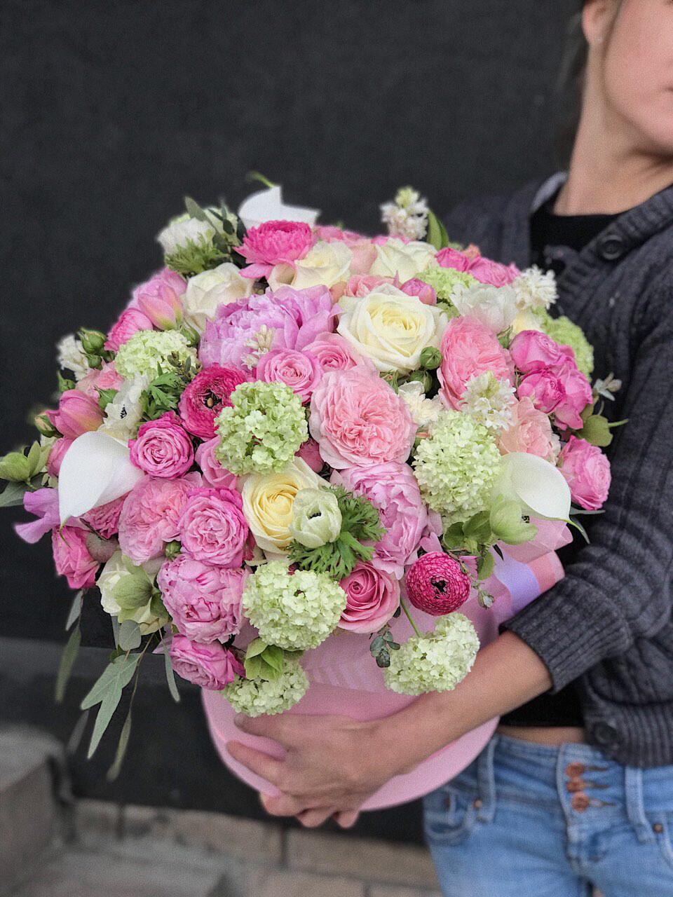 Коробка цветов Микс цветов