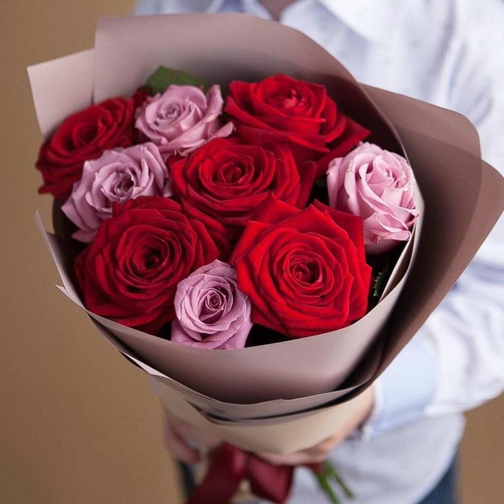 Букетик Эквадорских роз в Крафте