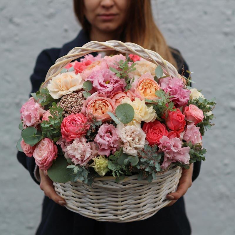 Корзина цветов Экзотика летом🌸