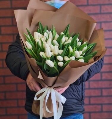Букет белых тюльпанов Паночка