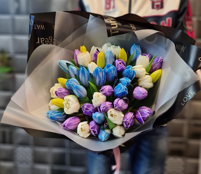 Букет миксовых тюльпанов Эксклюзив🌷🏵