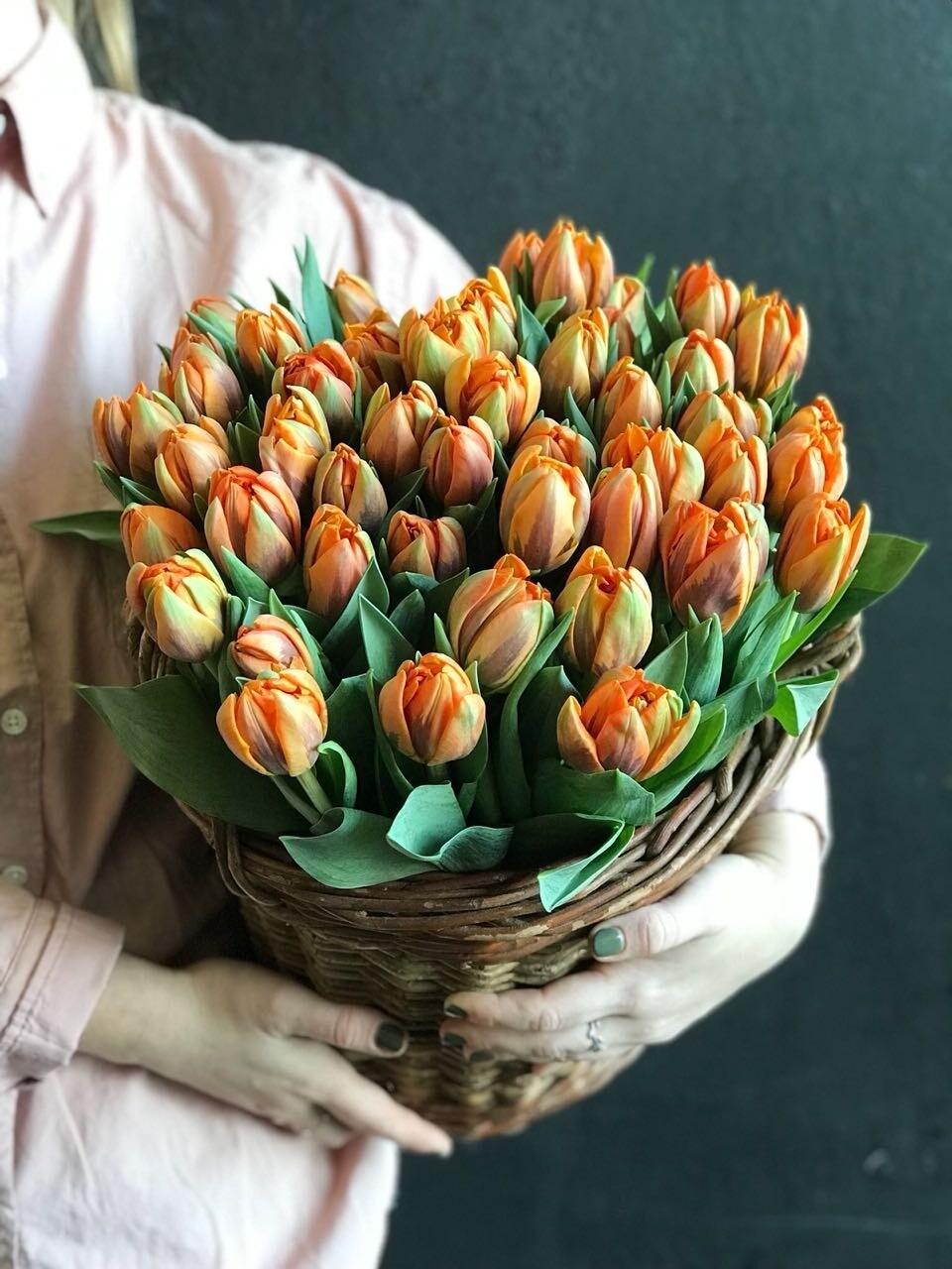 Кашпо тюльпанов Du Orange Princess.