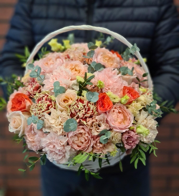 Корзина цветов Ангелина