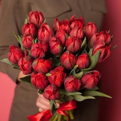 Букет тюльпанов de red princess.