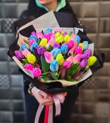 Букет тюльпанов Радуга 🌈