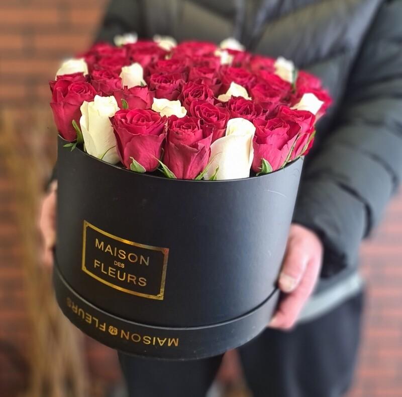 Коробка роз классика микс
