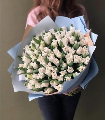 Букет Премиум тюльпан White Libersta
