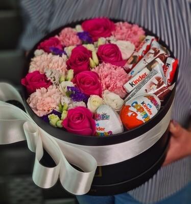Коробка цветов с KINDER
