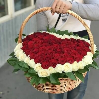 Корзина 101 Rose heart.