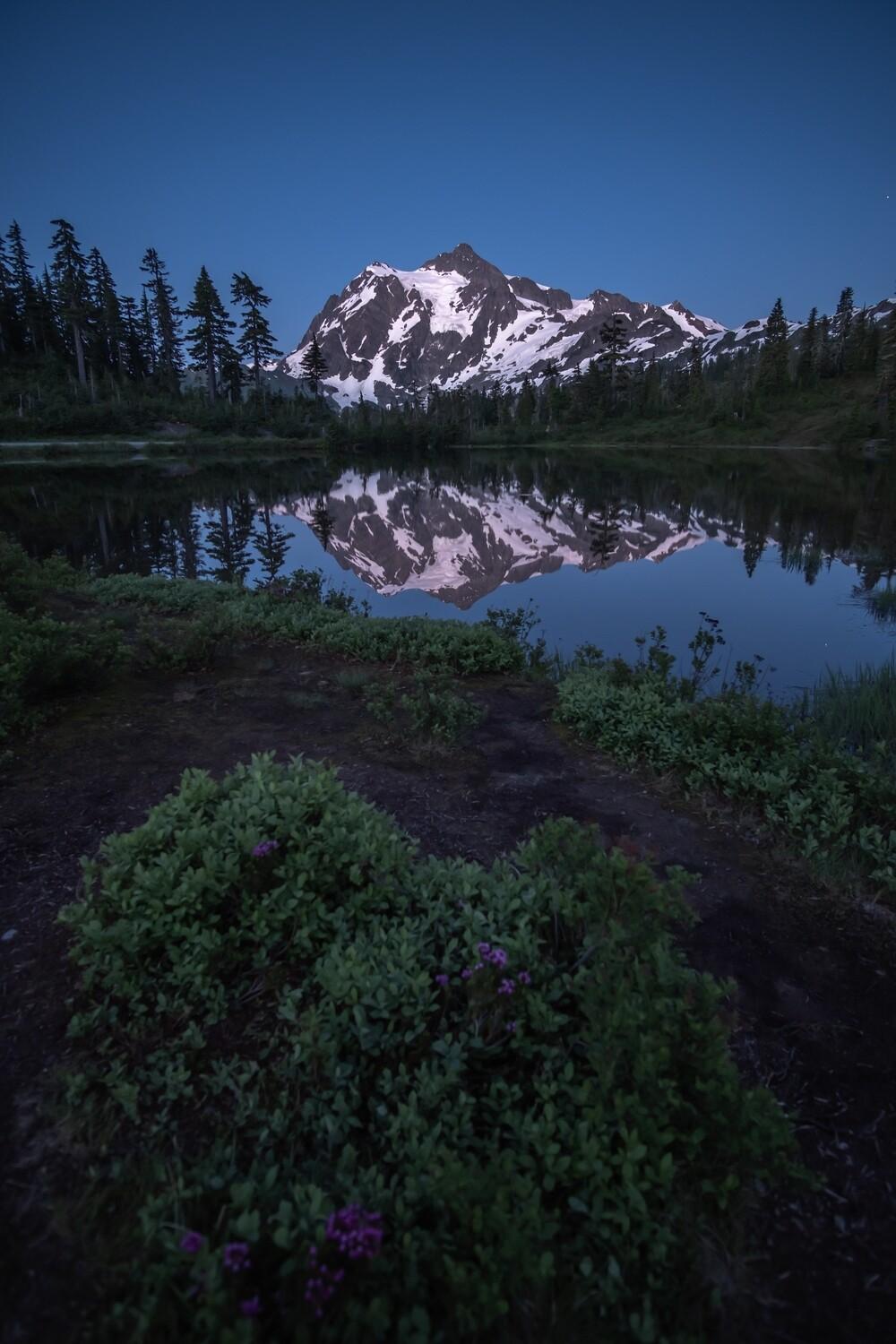 Blue Hour at Picture Lake