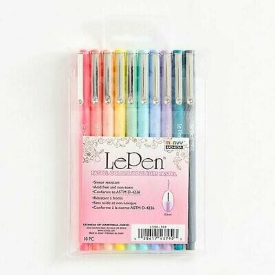 Le Pen Pastel- Set de 10